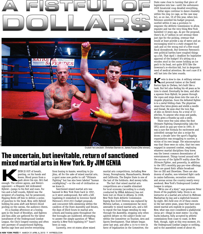 Darrow Funaro NY Press Article