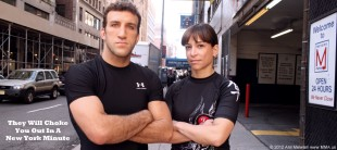 Igor Gracie and student Ottavia Bourdain before Jiu Jitsu Lessons in NYC