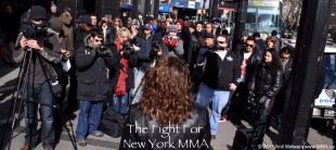 New Yorkers Rally to Legalize MMA