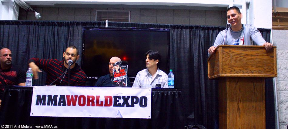 Jim Genia Leads a Panel on NY Underground MMA (left to right - Dan Miragliotta, Israel Martinez, Bruce Kivo, Anil Melwani, Jim Genia)