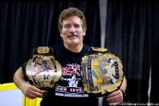 Dan Severn with his UFC Belts