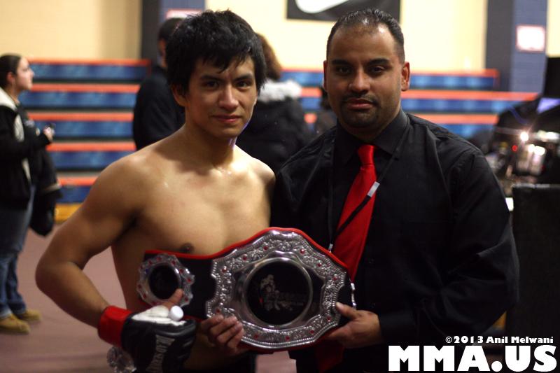Lightweight Champion Leo Muniz & Promoter Eugene Perez