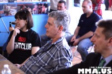 Anthony Bourdain & Ottavia Bourdain watch Brutal Ground & Pound