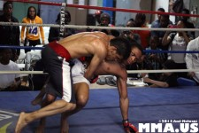 Desmond Nelson takes down Pataudi Rambrose
