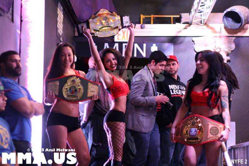 53 - Fight 9 - Ring Girls with Felipe Carlos Belts