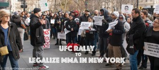 UFC Rally to Legalize Mixed Martial Arts in New York